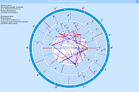 Anamnesis. Example of considered dual chart when studying synastry compatibility