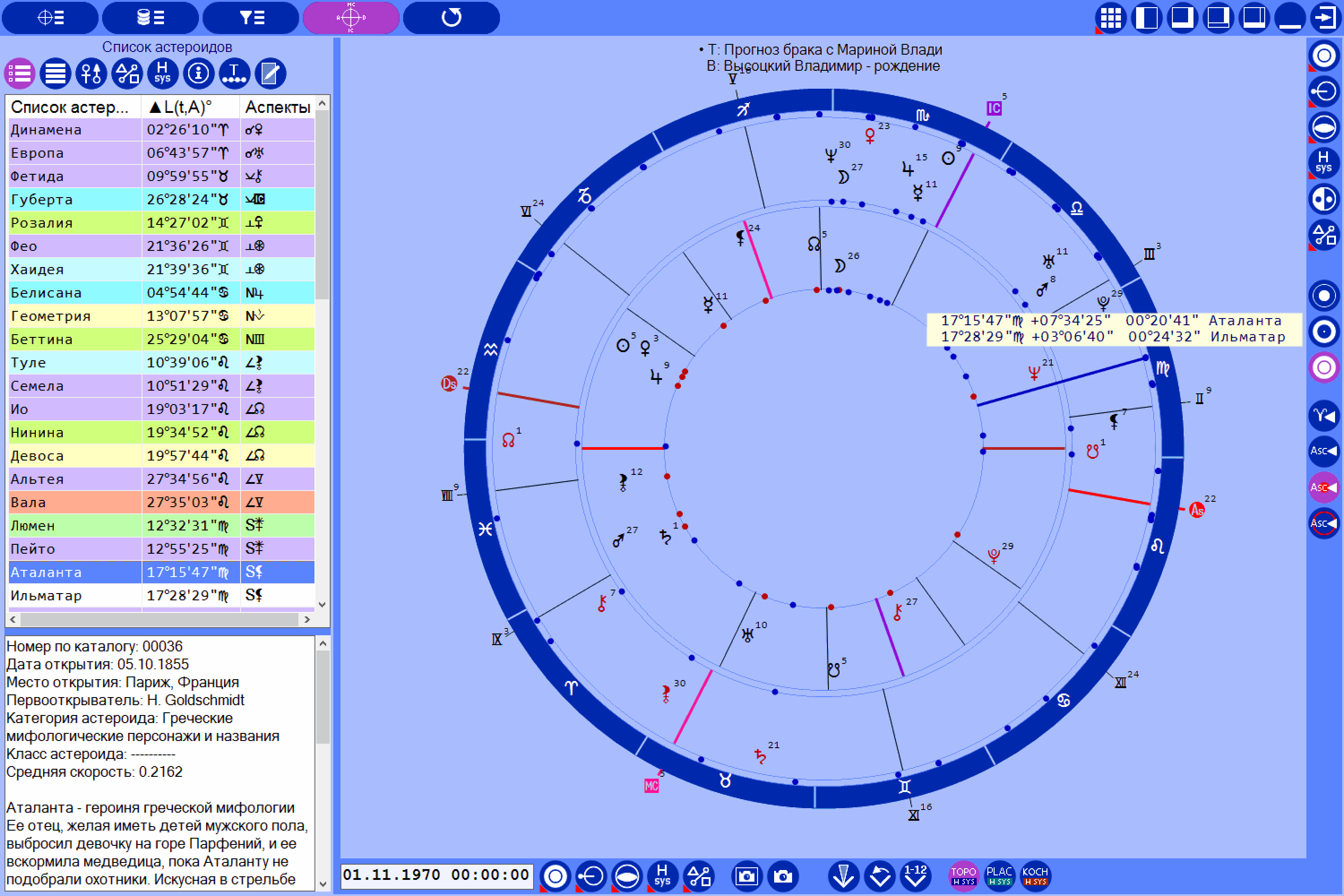 Asteroid Astrology Calculator