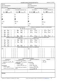 Form for the analysis of marital compatibility (synastry)